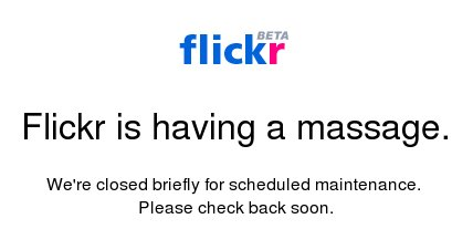 Flickr is having a massage